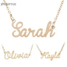 Unisex Personalized Name Necklace Alloy Pendant Custom Name Collar Chain Nameplate Pendant Necklace Gift Dropshipping(