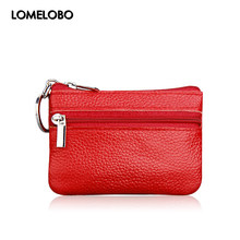 Lomelobo Hot sale Women Genuine leather Coin Wallets Women Zipper Coin Bags Children Storage Pocket Female Purses Pouch MDN-060A(China)