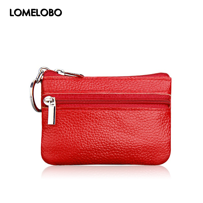 Lomelobo Hot Sale Women Genuine Leather Coin Wallets Women Zipper Coin Bags Children Storage Pocket Female Purses Pouch MDN-060A