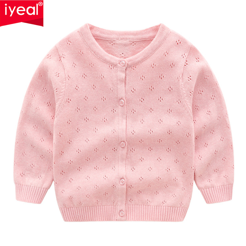 IYEAL 2018 Autumn Winter Cotton Sweater Top Baby Children Clothing Boys Girls Knitted Cardigan Sweaters Kids Toddler Clothes children autumn and winter warm clothes boys and girls thick cashmere sweaters