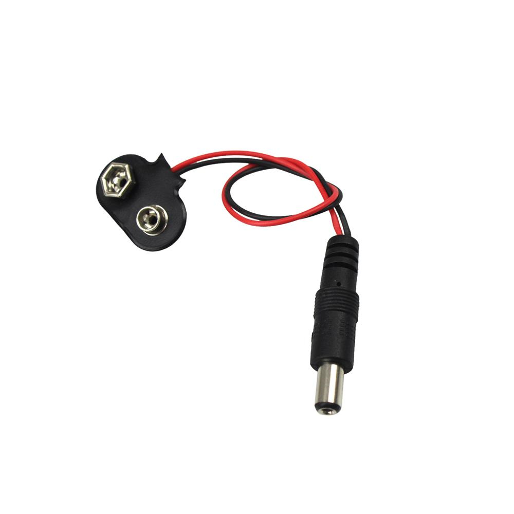 Experimental 9V Battery Snap Power Cable To DC Clip Male Line Adapter For Arduino UNO R3