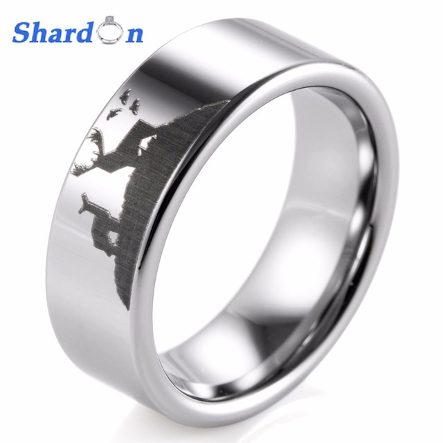 mens view p s two ring tone finish men brushed comfort quick wedding rings titanium with fit