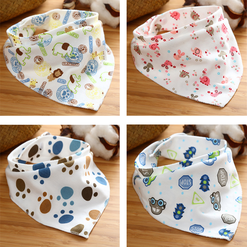 Cartoon Newborn Baby Burp Bandana Bibs Cotton Soft Kids Toddler Triangle Scarf Bib Cool Accessories Infant Saliva Towel DS49