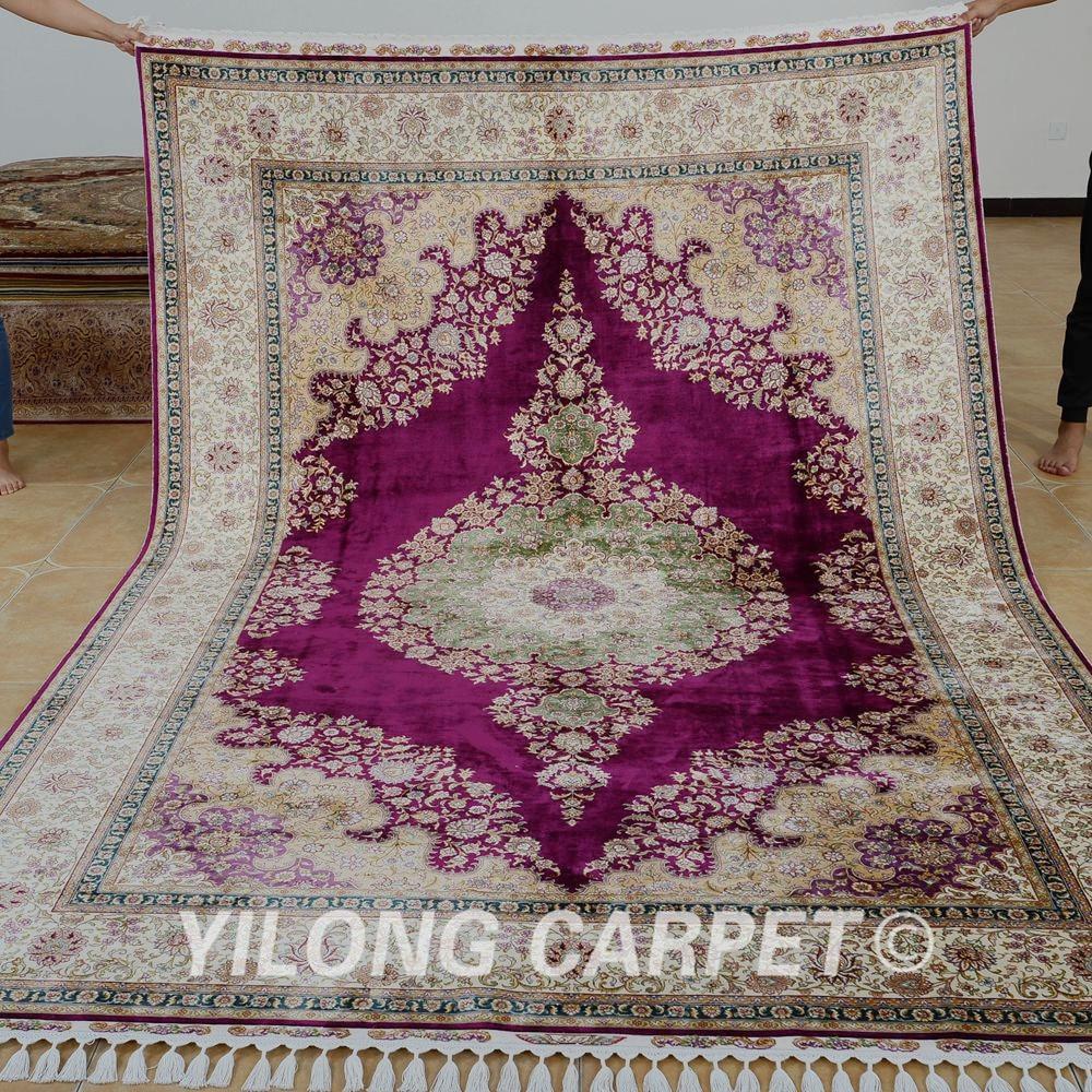 Yilong 6.56'x9.84 'на едро турски килим лилав - Домашен текстил - Снимка 1