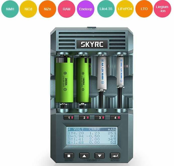 الأصلي SKYRC MC3000 الذكية 4 فتحات شاشة الكريستال السائل شاحن بطاريات متعددة فون/بواسطة الهاتف ل mutilcopter fpv rc الطائرة بدون طيار