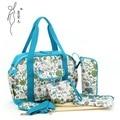 5pcs  Multifunctional Bolsa Maternidade Baby Diaper Bags Nappy Bag Mummy Maternity Lady Handbag Messenger Bag V-0650