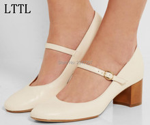New Arrival sweet round toe Mary Janes women pumps for party med heel buckle strap classics shoes lady