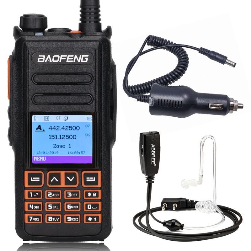 Baofeng DM X GPS Dual Band Digital DMR Walkie Talkie Ham Amateur Radio Station Transceiver DM