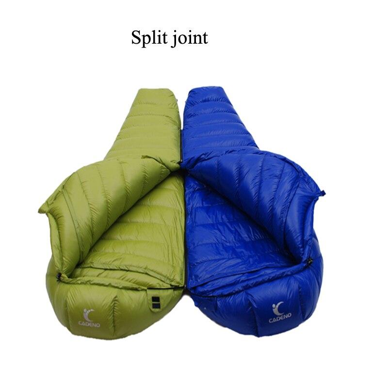 Adult Waterproof Sleeping Bag Ultralight Winter Camping Mummy Sleeping Bag Camping Supplies Down Sleeping Bags tourism 1