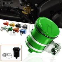 Universal CNC Motorcycle Rear Brake Fluid Reservoir Clutch Tank Oil Cup For KAWASAKI VERSYS 650 1000 Z750 Z900 Z