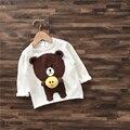 6 unids/lote camisas de los bebés niños niños oso pato de Invierno de Terciopelo de manga larga suéteres sueter aire sylvia 540614149291