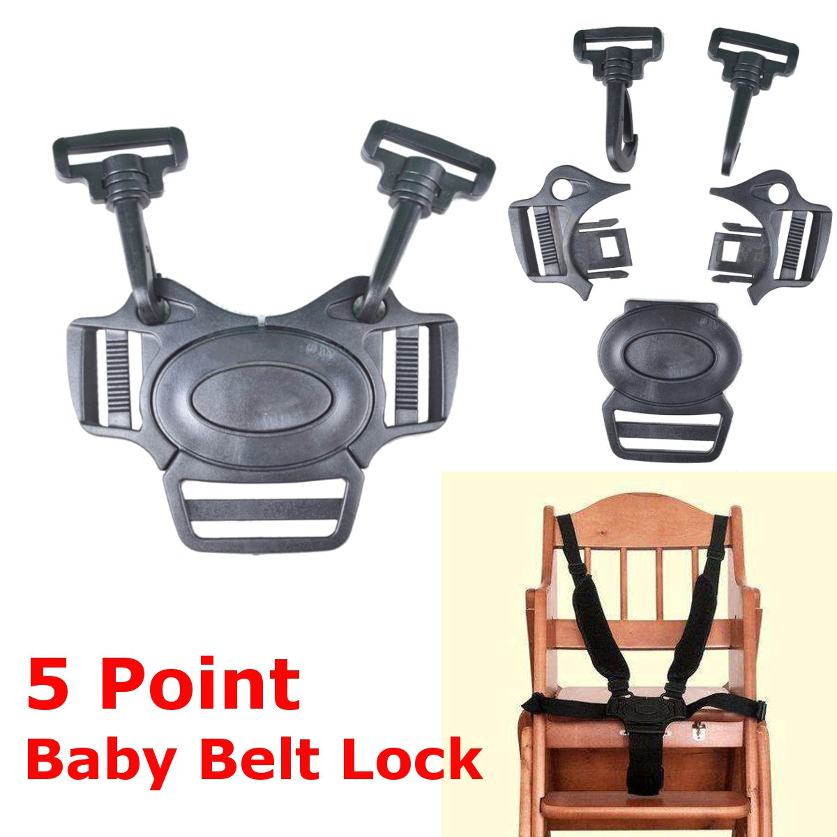 Baby Harness Buckle High Chair Belt Straps Clip Replacement For Flair Highchair
