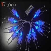 TOFOCO Horror Light up Toys PVC Transparent Random Color Lighting 10 LED Toys FOR party and Christmas