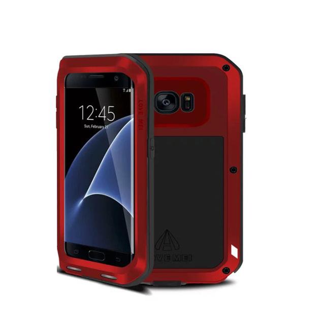 Amor mei original phone case à prova d' água para samsung galaxy s7 edge case de alumínio do metal case telefone bag case para samsung s7 edge