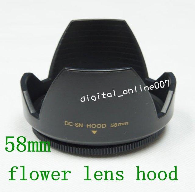58 mm 58mm Lens Hood (Screw Mount) Petal Crown Flower Shape for Canon Nikon Sony pentax Fuji