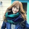 Free shipping 1pcs 2016 autumn/winter fashion color matching knitted scarf 100% quality assurance Men's women's warm scarvers