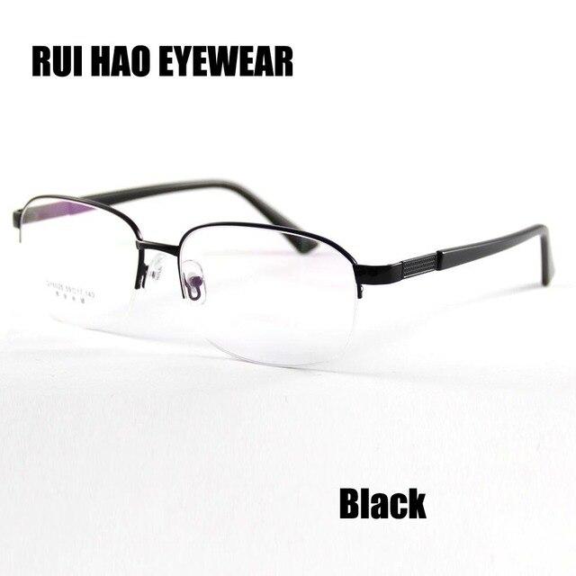 4bbd5d3e5a64a HAO RUI ÓCULOS Grandes Óculos de Armação Homens Metade Sem Aro Homens Óculos  de Prescrição de