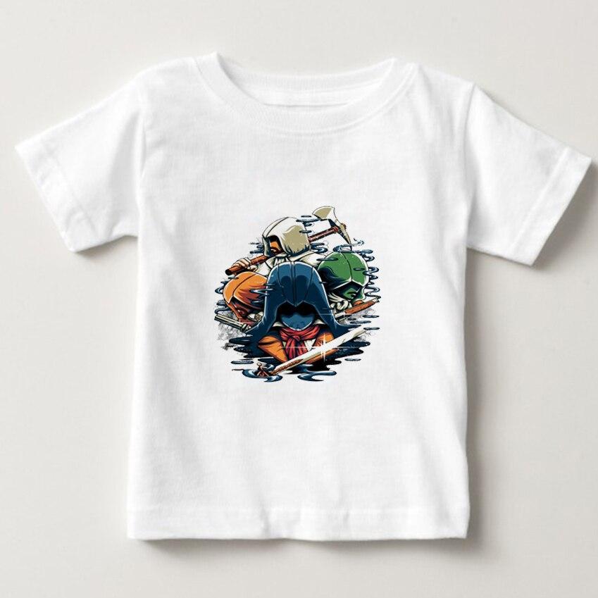 Galleria fotografica <font><b>Assassins</b></font> <font><b>Creed</b></font> 3d Print t-shirt kids short Sleeve Tops 2018 fashion <font><b>black</b></font> <font><b>flag</b></font> game t shirt boy girl T shirt summer T-shirt NN