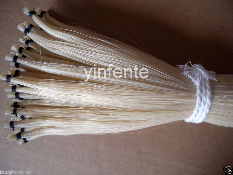 72-75cm bow horse hair Tail natural white mongol 30 hand  #7 250g bow horse hair natural mongolian horse tail bow parts 75 79cm
