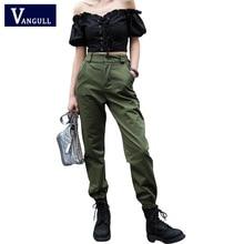 Vangull High waist pants New loose joggers women army harem camo pants streetwear punk black cargo pants women capris trousers