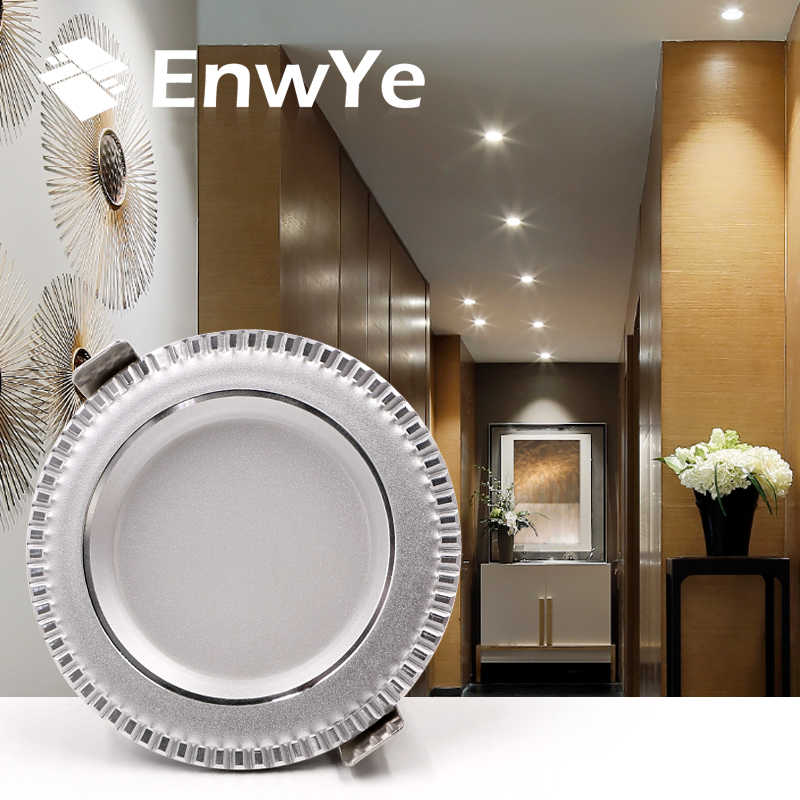 EnwYe LED Downlight תקרת 9 w חם לבן/קר לבן led אור AC 220 v 230 v 240 v