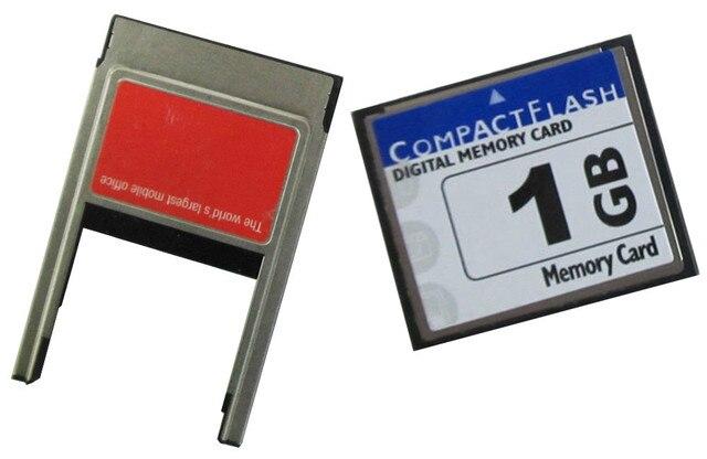 Карты CompactFlash 1 ГБ CF КАРТЫ с PCMCIA PC адаптер для ЧПУ, промышленные машины