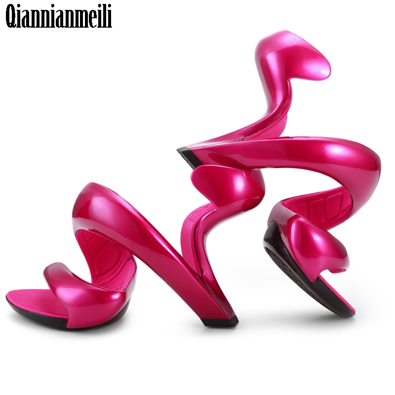 Platform Sandals Wedding-Shoes Snake Women Pumps Bottomless High-Heels New-Fashion Koovan