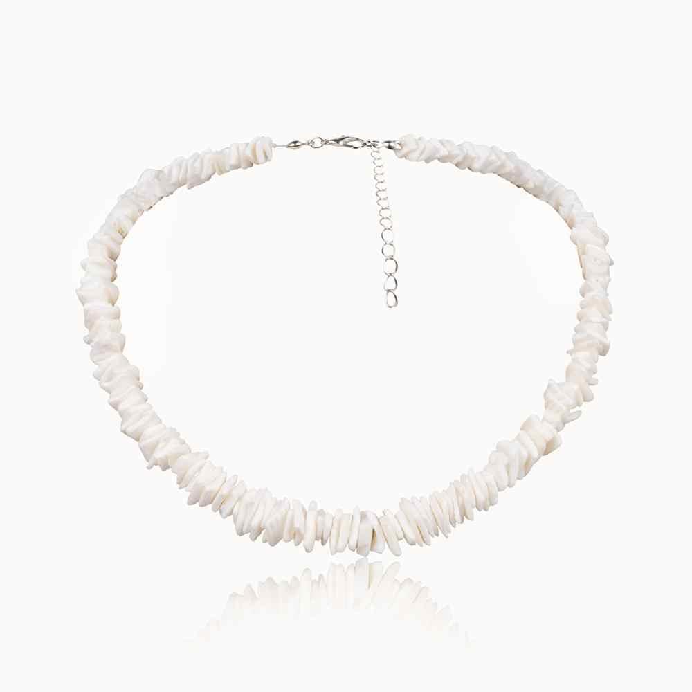 Ingemark Hawaii Puka Shell Choker Halskette NE + BA Koreanische Weiß Natürliche Unregelmäßige Chips Muschel Armband Fußkettchen Hochzeit Schmuck