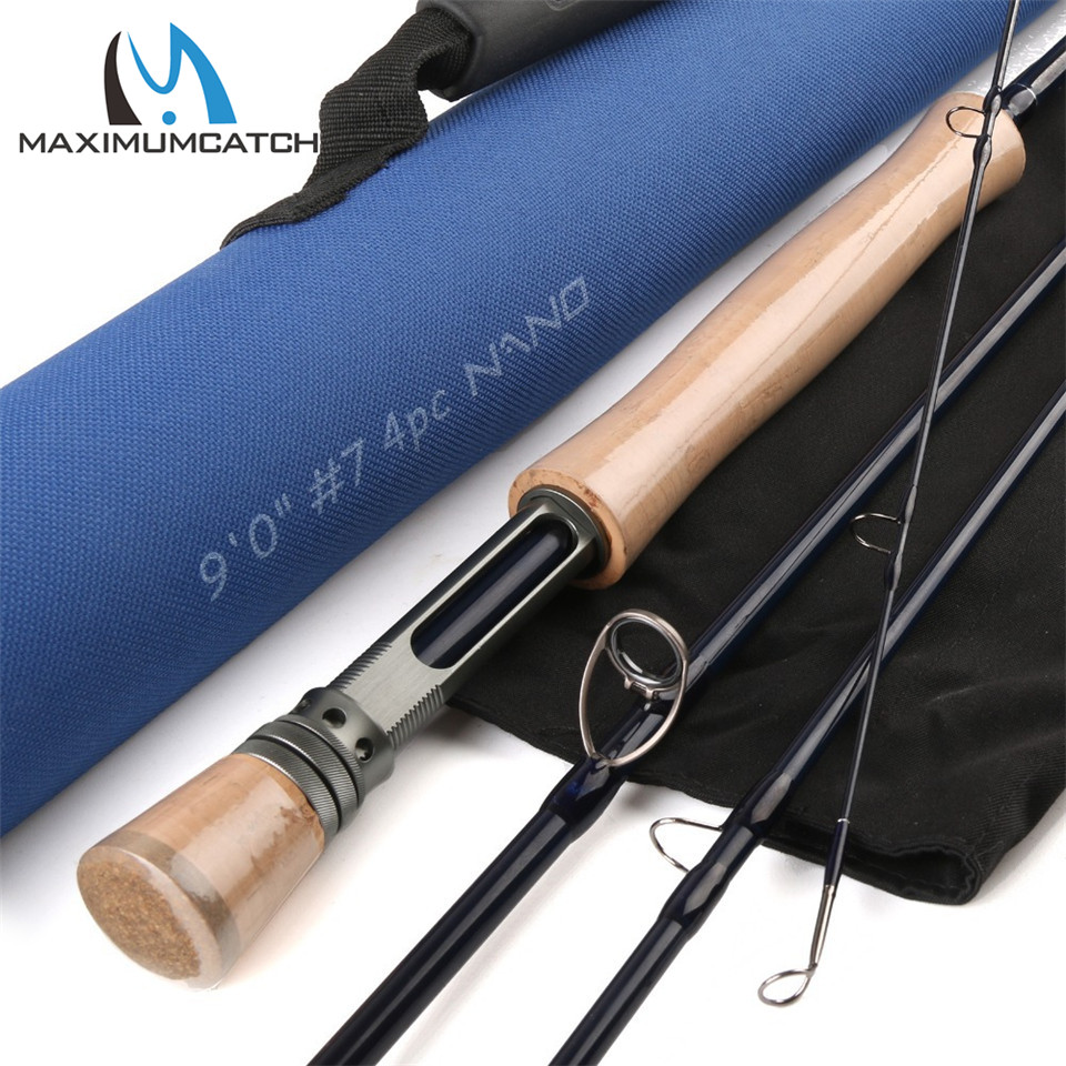 Maximumcatch Nano 8.4ft/9ft 3/4/5/6/7/8wt 4pcs Fly rod Fast Action IM12 Carbon Fiber Fly fishing rod with Cordura tube стоимость