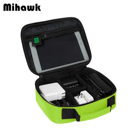 Mihawk Waterproof Cable Digital Bags Travel Portable USB Gadget Organize Charger Wires Zipper Pouch Tablet Pc Stuff Gear Supply Pakistan