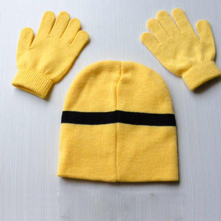 3ชิ้น/เซ็ตเด็กเด็กฤดูหนาวลูกน้องถุงมือ+หมวกชุดแฟชั่นแบรนด์ใหม่ที่อบอุ่นถักหมวกการ์ตูนถุงมือเด็กหนุ่มๆสาวๆหมวกGH153