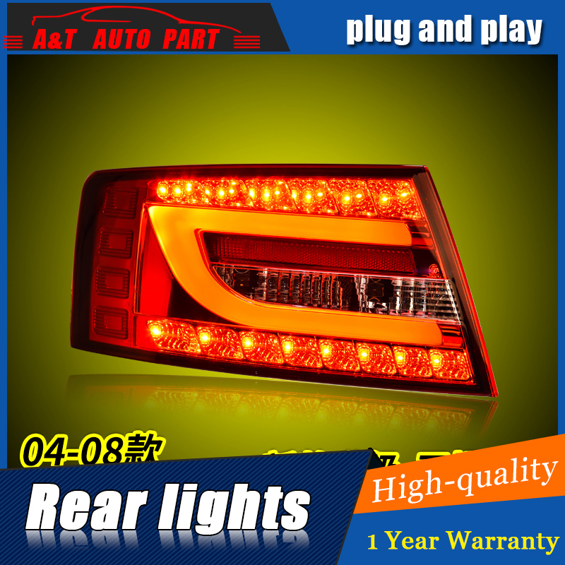 Car Styling LED Tail Lamp for A6 Tail Lights 2004-2008 for A6 Rear Light DRL+Turn Signal+Brake+Reverse LED light car styling for vw golf 6 tail lights 2008 2009 2010 2011 2012 led tail light r20 rear lamp cover drl signal brake reverse