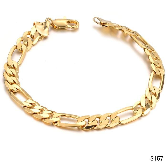 NEW DESIGN Gold Link Bracelets cable chains for men 18Kt GOLD ...