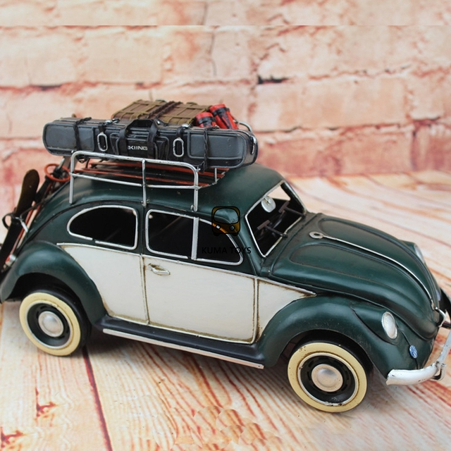 1934 Classic Handmade Car Model Volkswagen Beetle Touring Car Steel Iron Sheet Model 1:12 Retro Metal Car Model Decoration