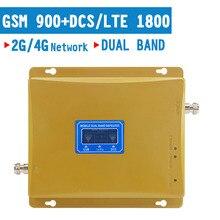 גרסה חדשה LCD תצוגת 2G GSM 900 4G DCS LTE 1800 נייד מהדר טלפון נייד אות מגבר Repetidor מאיץ להקה כפולה