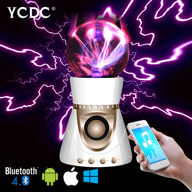 for iPod, MP3, MP4, CD player, Laptop, PC, PDA, PSP Spherical Electrostatic Ion Lamp Ball Magic Plasma Bluetooth Speaker