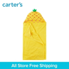 Carter's 1-Piece baby children kids clothing girl Pineapple Hooded cotton terry Towel 250G051