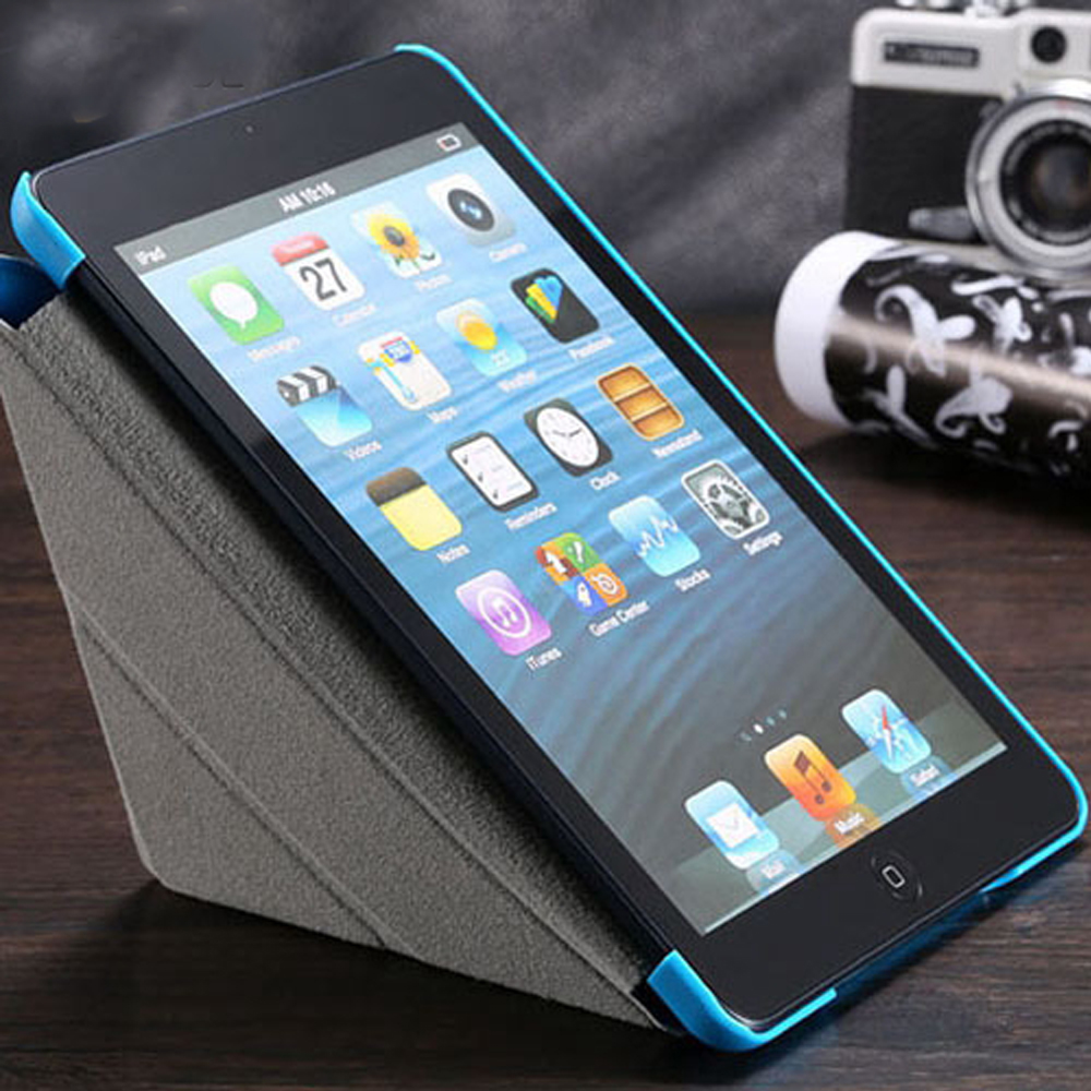 FLOVEME Leather Flip Case For iPad Mini Tablets Accessories Folded Sleep Wake Stand Protective Sleeve Cover For iPad Mini 1 2 3 floveme aluminum tablets stand case for ipad 2 3 4 air 2 mini for iphone 5s 6 6s 7 plus for galaxy s7 edge flexible angle adjust