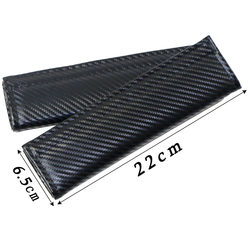 Seat belt pads skoda octavia fabia VRS  black carbon look