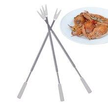 Вилки для еды из нержавеющей стали, высокое качество, ложка и вилка в форме конца, вилки для обеда, легко для морской еды, краб, выбор Омаров GF376