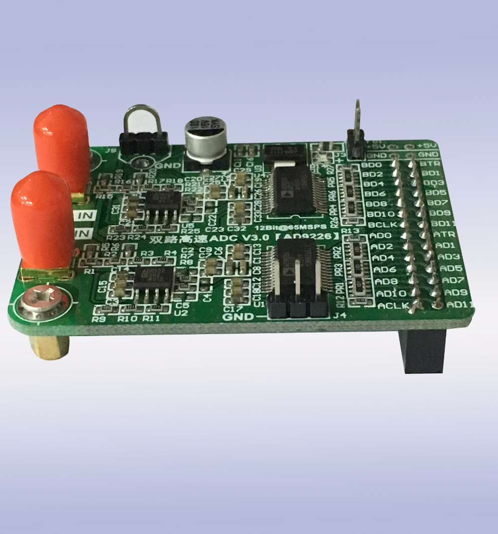 Free shipping Dual channel high speed AD module AD9226 parallel 12 bit AD 65M Data acquisition FPGA development board sensor in ABS Sensor from Automobiles Motorcycles