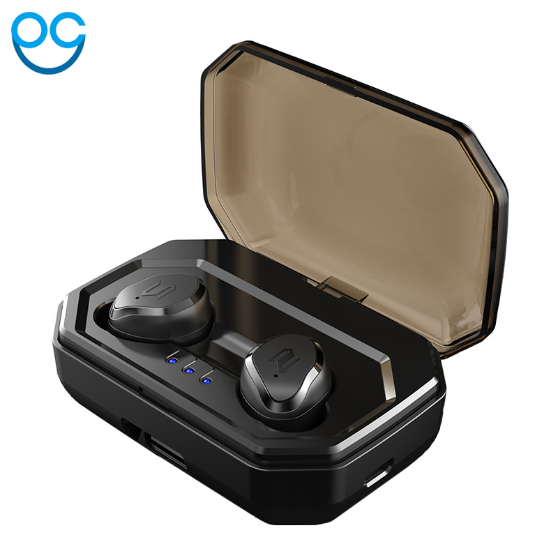 OGV New Mini TWS True Wireless Stereo Bluetooth Earphone with Mic Universal Wireless Handsfree Earbuds with Charger Battery Box mifa x1 wireless bluetooth earbuds true bluetooth 5 0 earphone twins stereo in ear tws with mic portable battery storage box