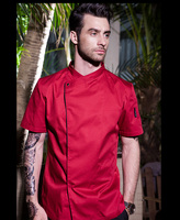 New Design Arrived Man Chef S Uniform Restaurant Chef Jackets Concise Chef S Short Sleeve Kitchen