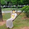 Outdoor Travel Camping Hammock Garden Portable Nylon Hang Mesh Net Sleeping Bed Bold mesh nylon rope