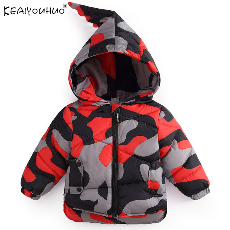 KEAIYOUHUO New Kids Coats Winter Warm Boys Jackets Cartoon Baby Boy Coat For Kids Outerwear Children Clothing Toddler Boy Jacket