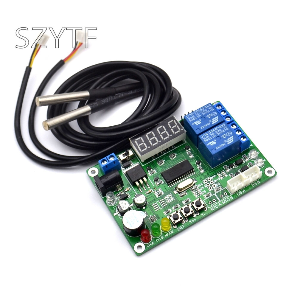High precision digital display temperature sensor intelligent temperature controller temperature difference meter-in Sensors from Electronic Components & Supplies