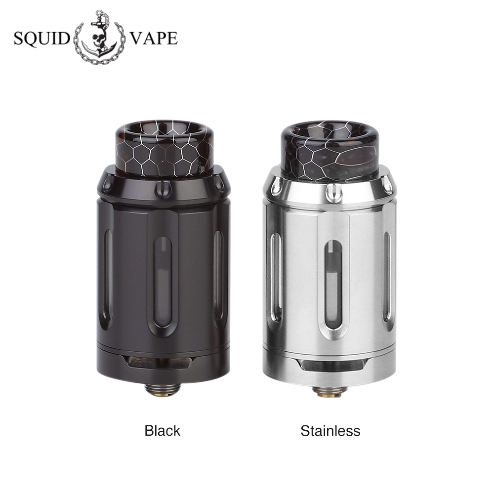 Original Heavengifts Squid Industries PeaceMaker RTA 4ml/8ml Atomizer 25mm RTA Vape Tank Fit Drag 2/ Luxe Mod VS Manta RTA-in Electronic Cigarette Atomizers from Consumer Electronics    1