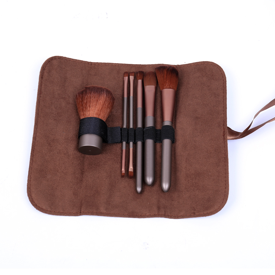 6pcs /set brand Makeup Brushes Professional set with bag Eye Shadows Wool Fiber Cosmetic Brush Set eyeshadow pincel maquiagem