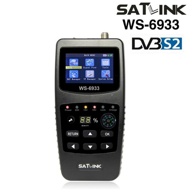 Original Satlink WS-6933 DVB-S2 FTA C&KU Band Satellite Finder Meter satlink 6933 WS6933 with 2.1 Inch LCD Display satlink ws 6908 3 5 lcd dvb s fta data digital satellite signal finder meter
