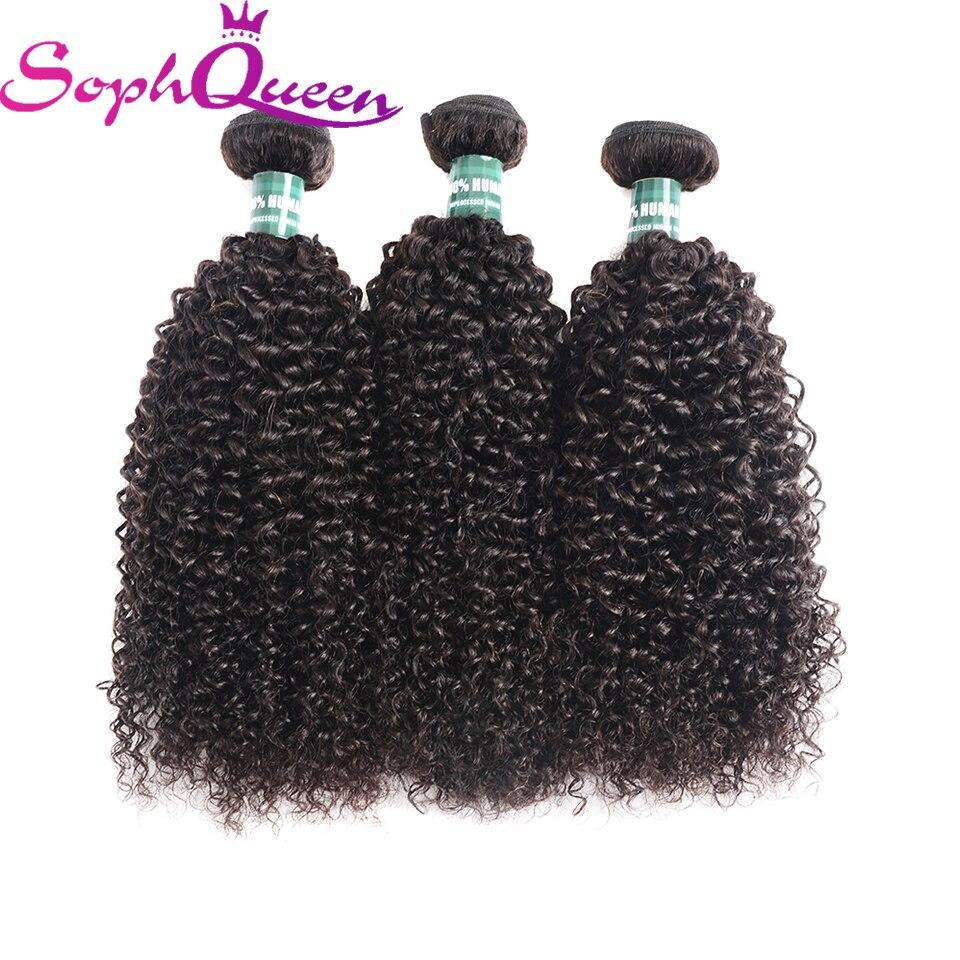 Soph Queen Hair Malaysian Kinky Curly Hair Bundles Weave 100% Human Hair Bundles Remy Hair Extensions